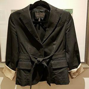 BCBG lightweight jacket w waist tie